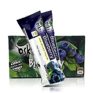 Amazon.com : Oskri Blueberry 100% Fruit Bars, No Added Sugar ...