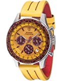 DETOMASO Firenze Style Men's Quartz Watch with Multicolour Dial Chronograph Display and Yellow Leather Bracelet Sl1624C-Yb