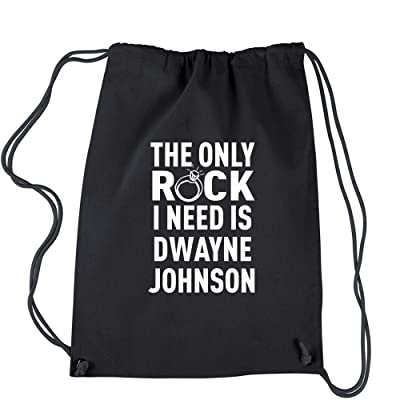 Expression Tees The Only Rock I Need Is Dwayne Johnson Cotton Drawstring Backpack