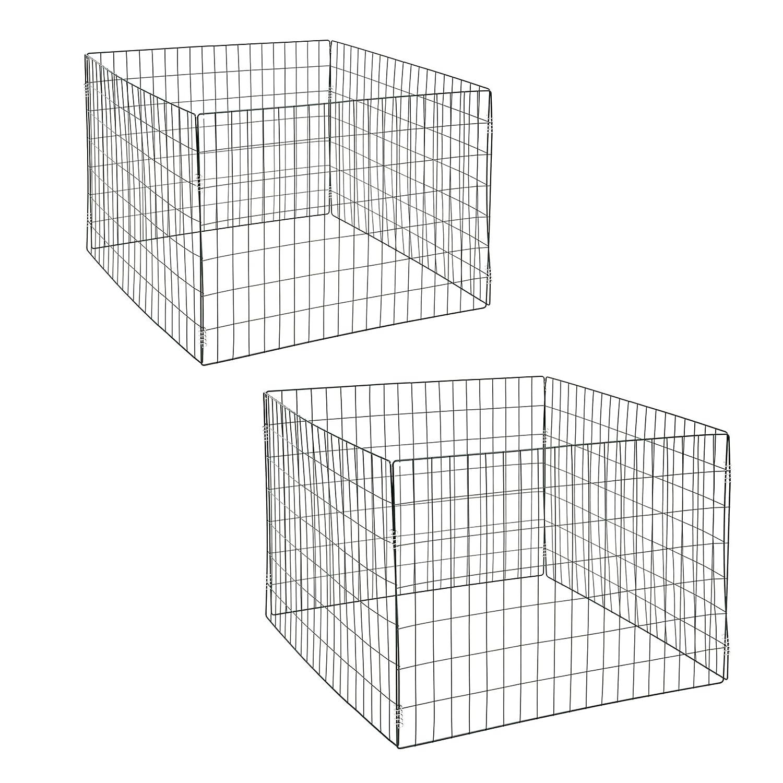 Estexo® 2X Drahtgitterkomposter/Metallgitter Komposter, 90x90x70cm, Farbe: Grün Farbe: Grün 512469