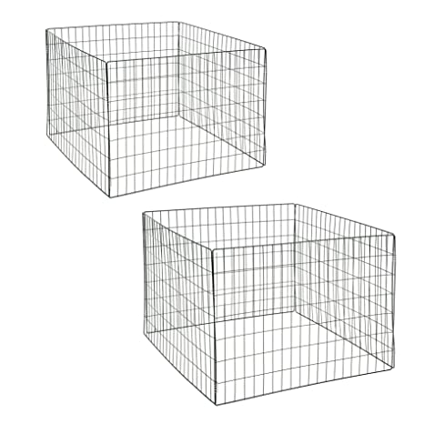 Estexo 2 x compostador de Malla de Alambre/Metal Rejilla compostador, 90 x 90