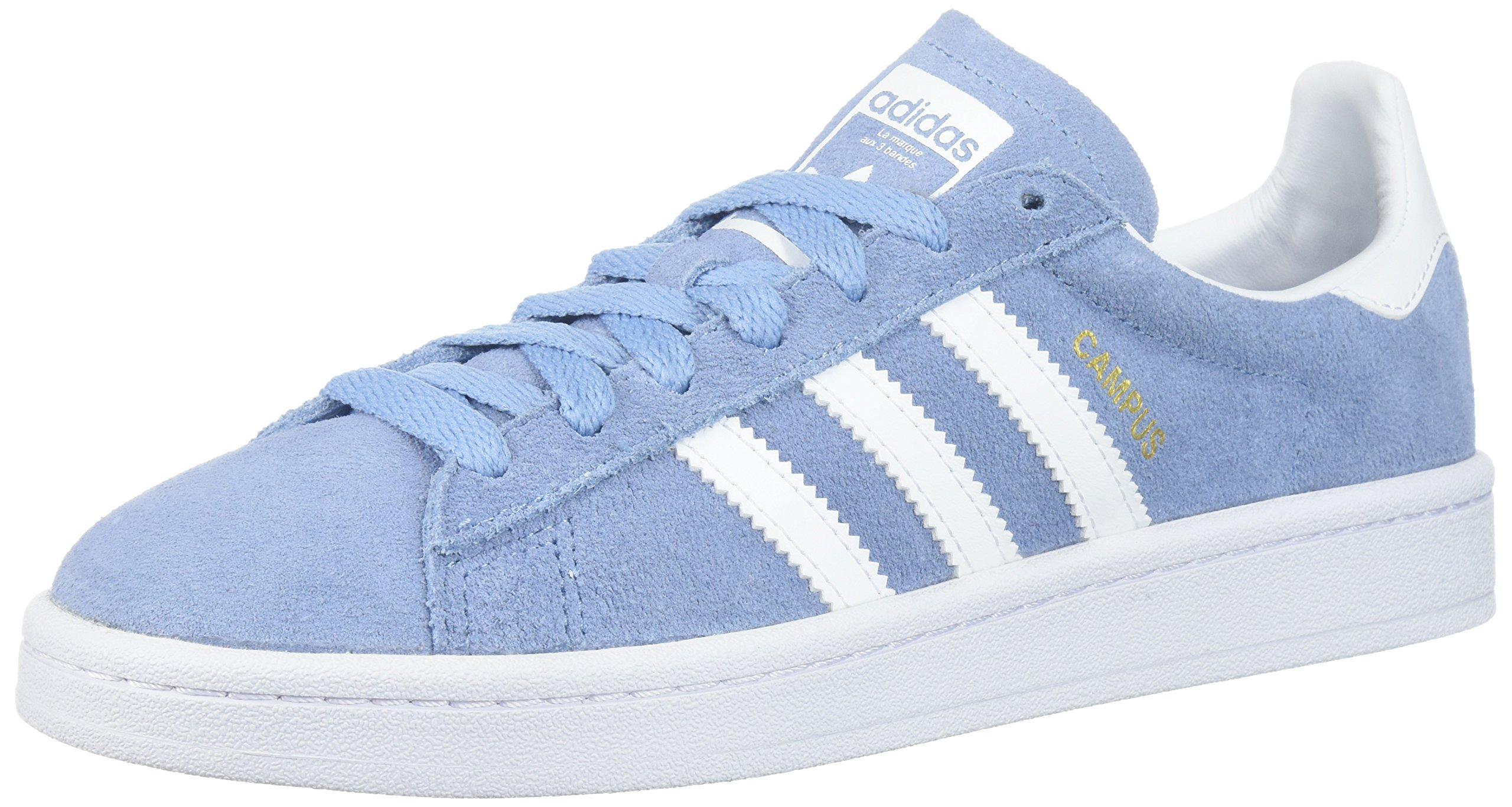 adidas Originals Kids' Campus J Sneaker,Ash Blue/White/White,7 Medium US Big Kid