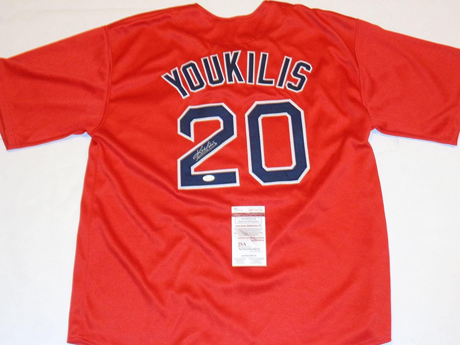 84ebe2308 Amazon.com  Kevin Youkilis Autographed Jersey - witness - JSA Certified -  Autographed MLB Jerseys  Sports Collectibles