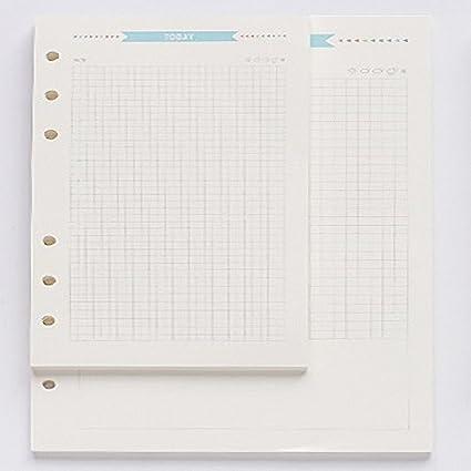 3 hojas sueltas de 6 agujeros para cuaderno de dibujo, en ...