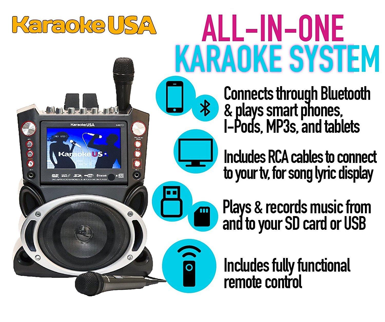 Amazon.com: Karaoke USA GF845 Complete Karaoke System with 2 ...