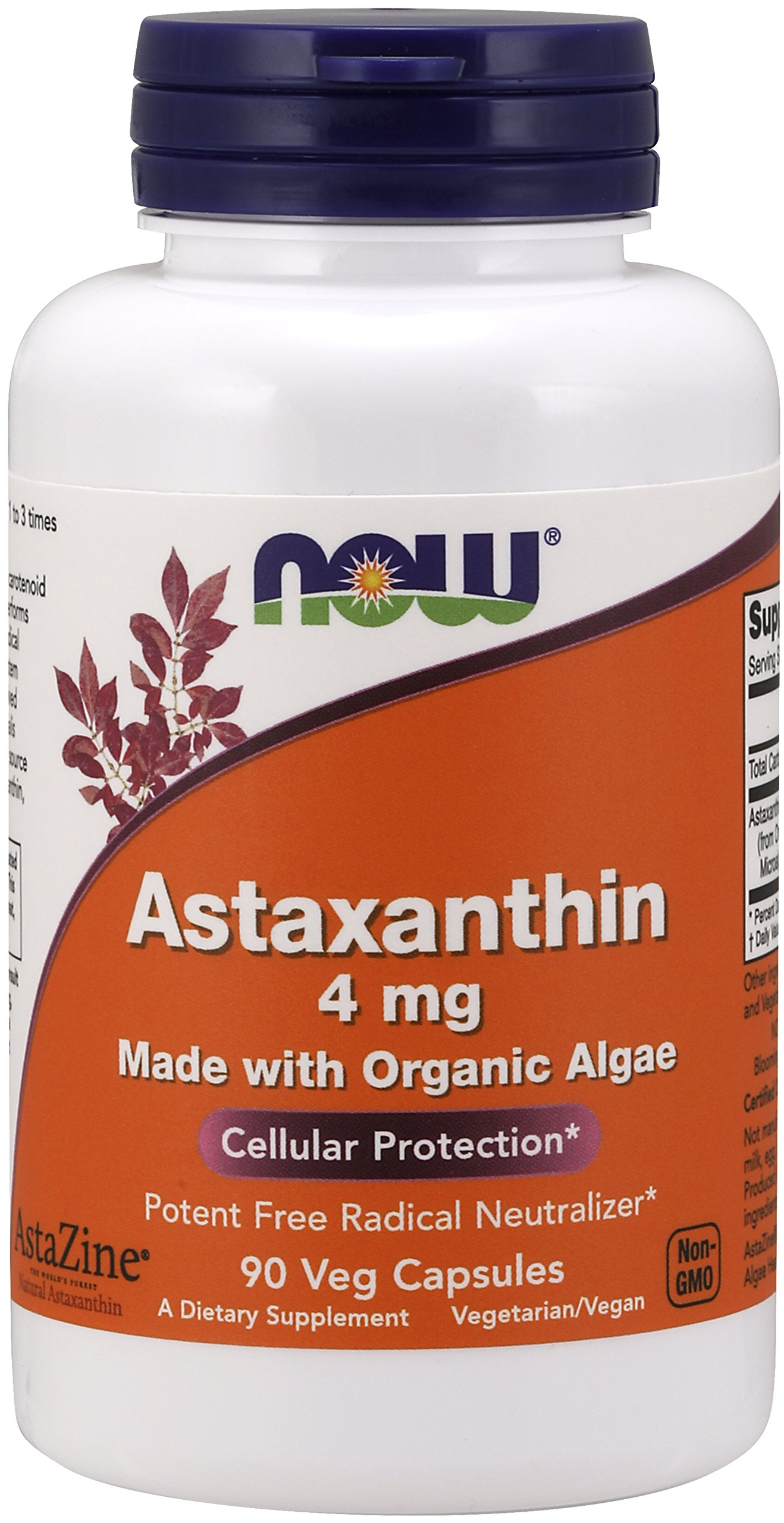 Now Astaxanthin 4 mg, 90 Veg Capsules