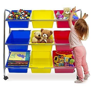 Sorbus Toy Bins U0026 Office Supply Organizer On Wheels U2014 Plastic Storage Cart  With Removable Bins