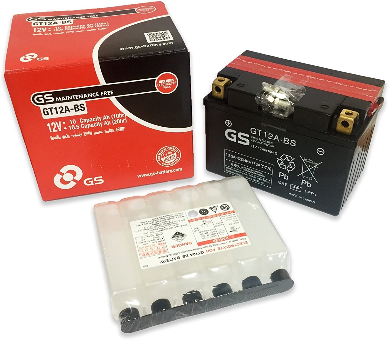 Batería potenziata GS gt12 a-bs YT12 A-BS 12 V 10 Ah Para ...