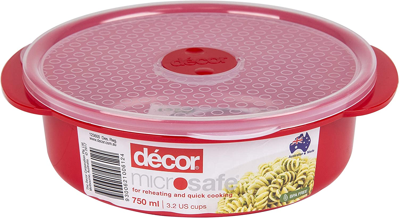 Décor - Recipiente redondo para horno microondas y microondas ...