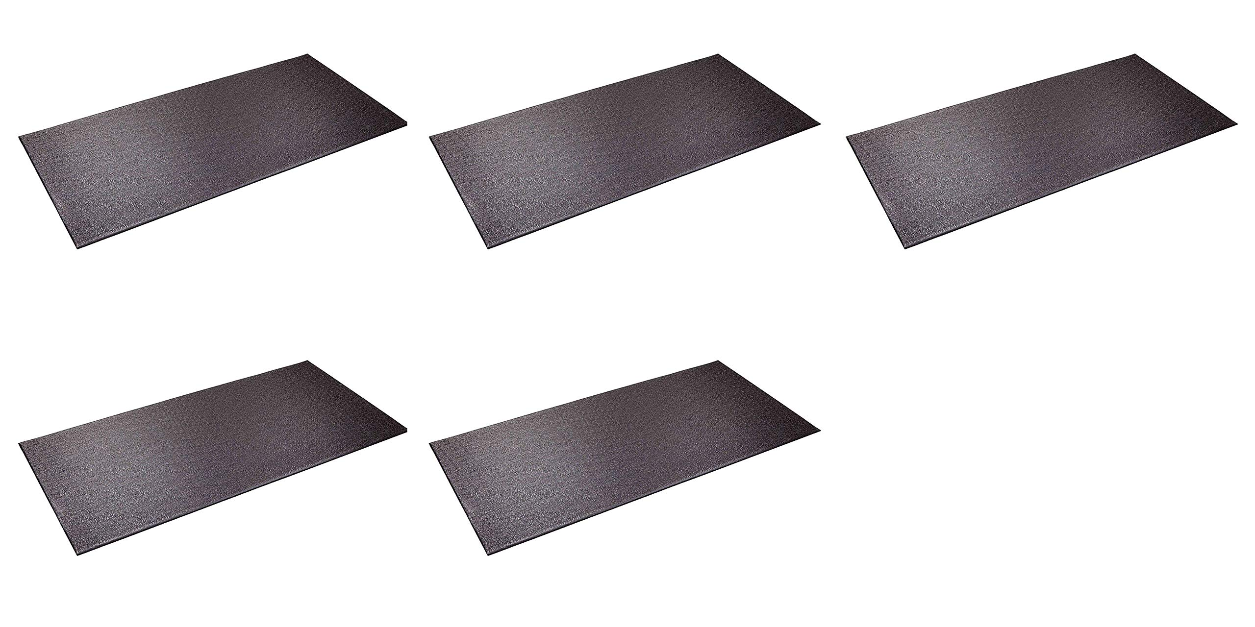 SuperMats Heavy Duty Equipment Mat 13GS Made in U.S.A. for Indoor Cycles Recumbent Bikes Upright Exercise Bikes and Steppers (2.5 Feet x 5 Feet) (30-Inch x 60-Inch) (76.2 cm x 152.4 cm) (Fіvе Расk) by SuperMats (Image #1)