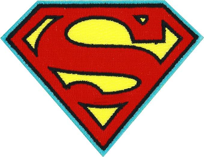 amazon com dc comics superman logo patch clothing