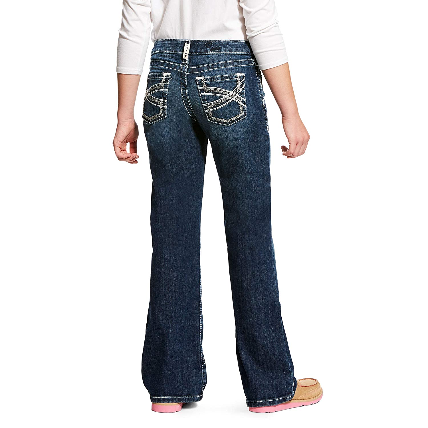 ARIAT Kids Girls Real Entwined Boot Cut Jean