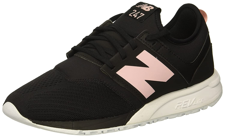 New Balance Women's 247v1 Sneaker B075R7JPP1 8 B(M) US|Black/Pink