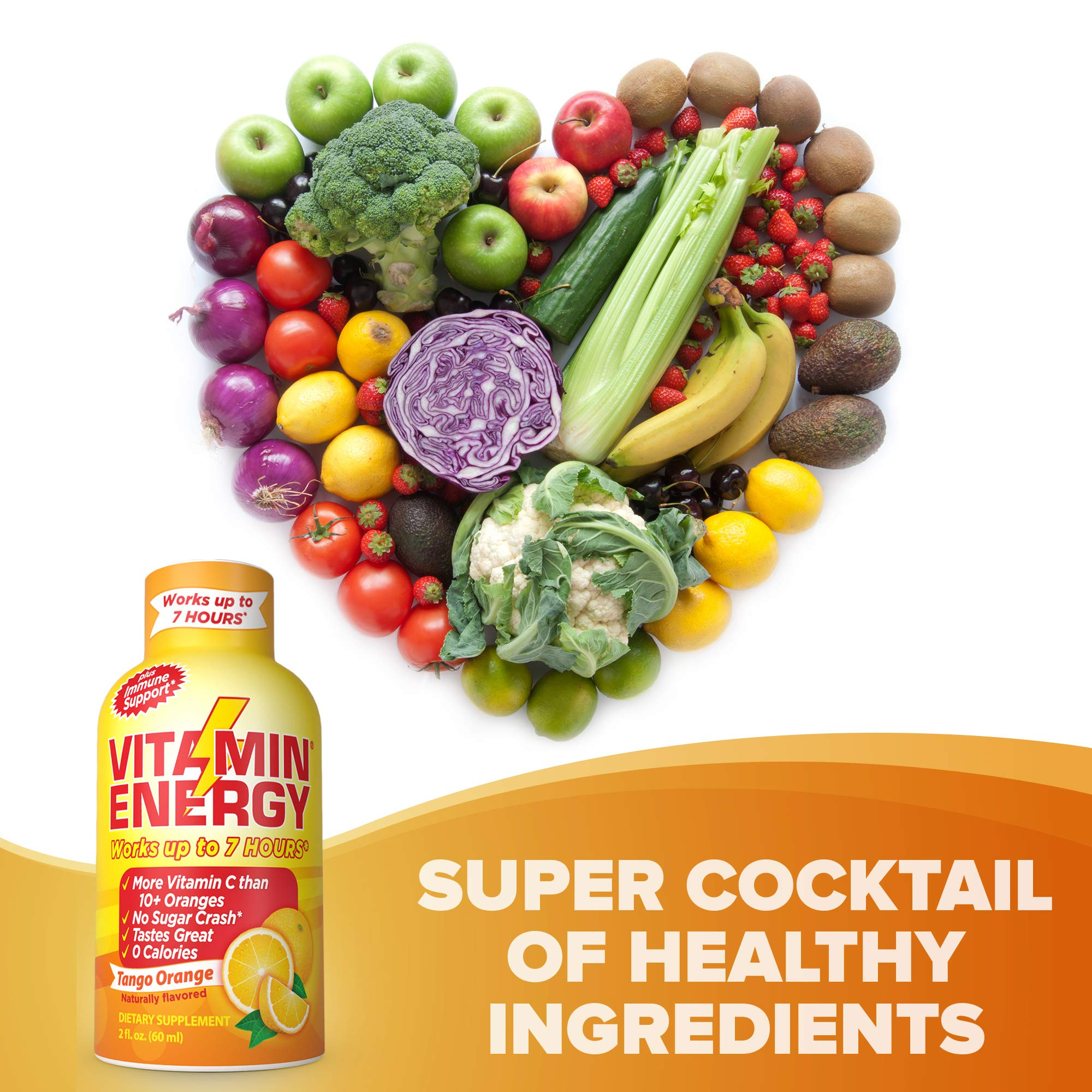 Vitamin Energy Shots – up to 7 Hours of Energy, More Vitamin C Than 10 Oranges, 0 Calories (48 Count) by Vitamin Energy (Image #5)