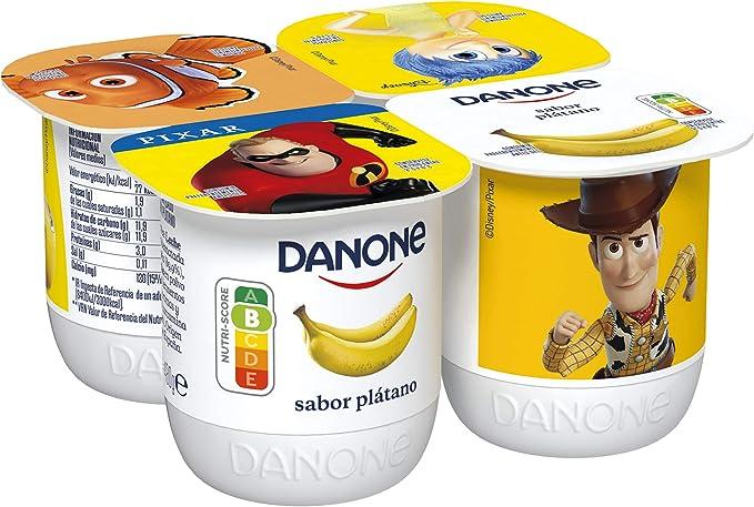 Danone Yogur Sabor Plátano, 4 x 120g