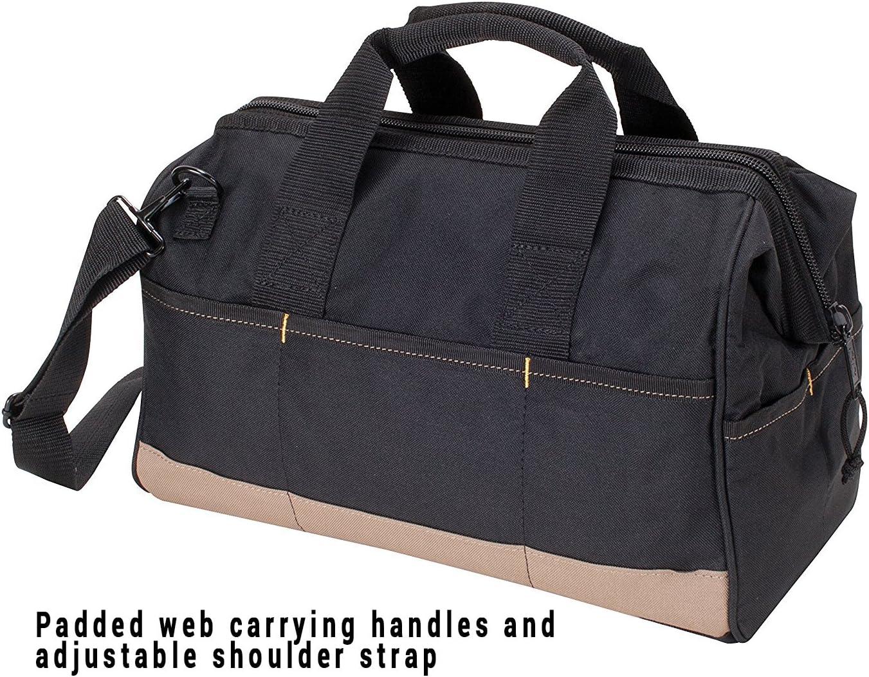 CLC Custom Leathercraft 1165 Large BigMouth Bag, 22 Pocket - Tool Bags -