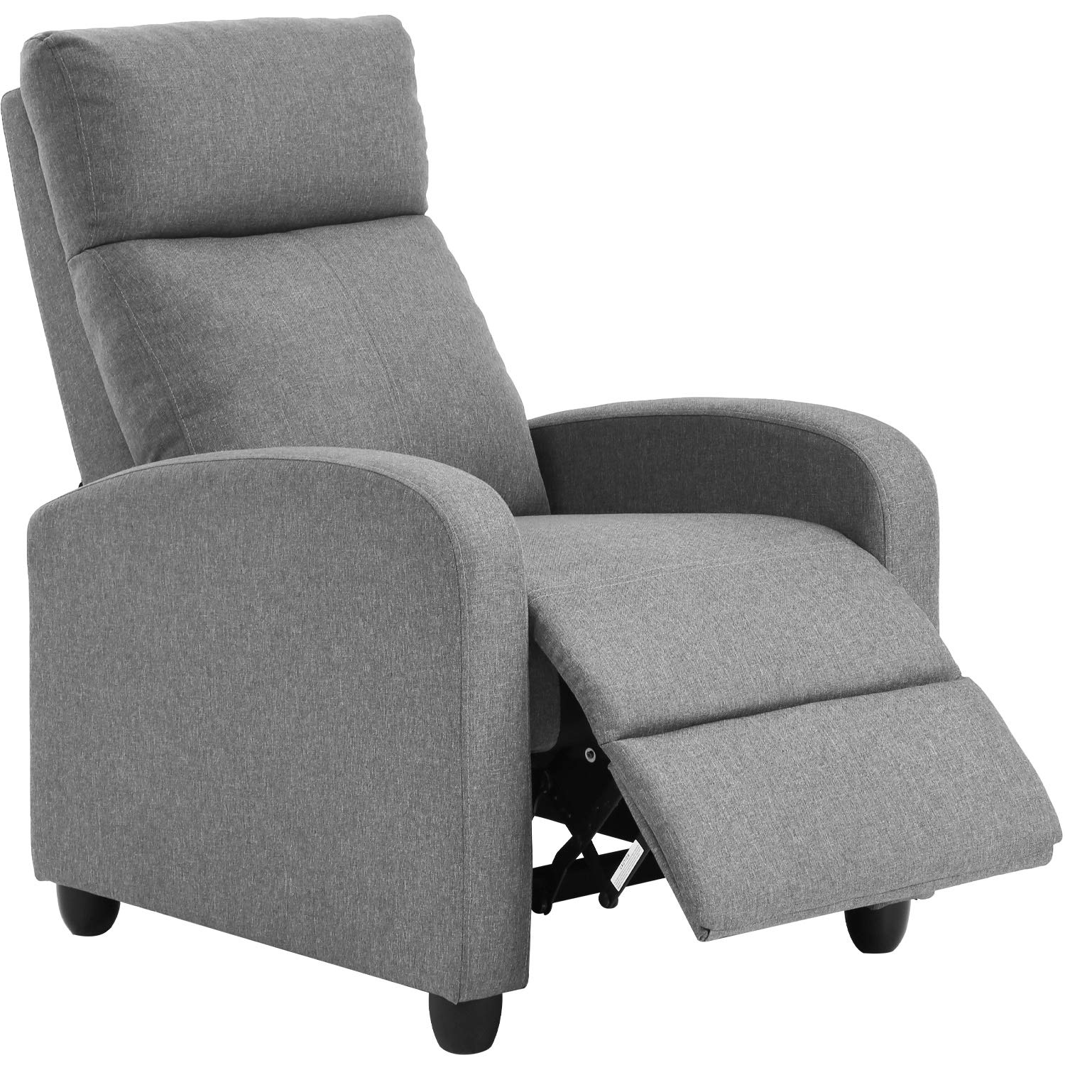 Recliner Chair for Living Room Home Theater Seating Single Reclining Sofa Lounge with Padded Seat Backrest (Grey)