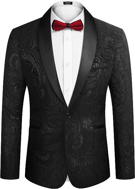 Amazon.com: COOFANDY - Traje de vestido floral para hombre ...
