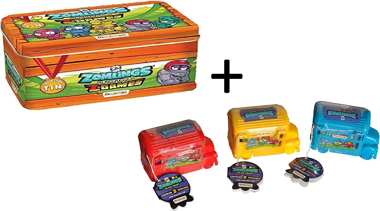Pack para coleccionar zomlings (Lata Metálica + 3 Autobús): Amazon.es: Salud y cuidado personal