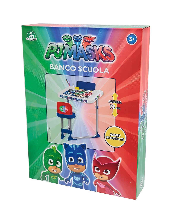 Giochi Preziosi - Super pigiamini PJ Masks Banco Escolar con Compartimiento Porta Objetos: Amazon.es: Juguetes y juegos