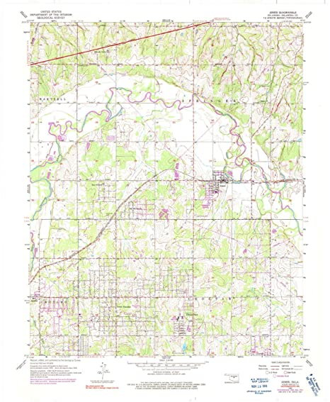 Amazon.com : YellowMaps Jones OK topo map, 1:24000 Scale ... on