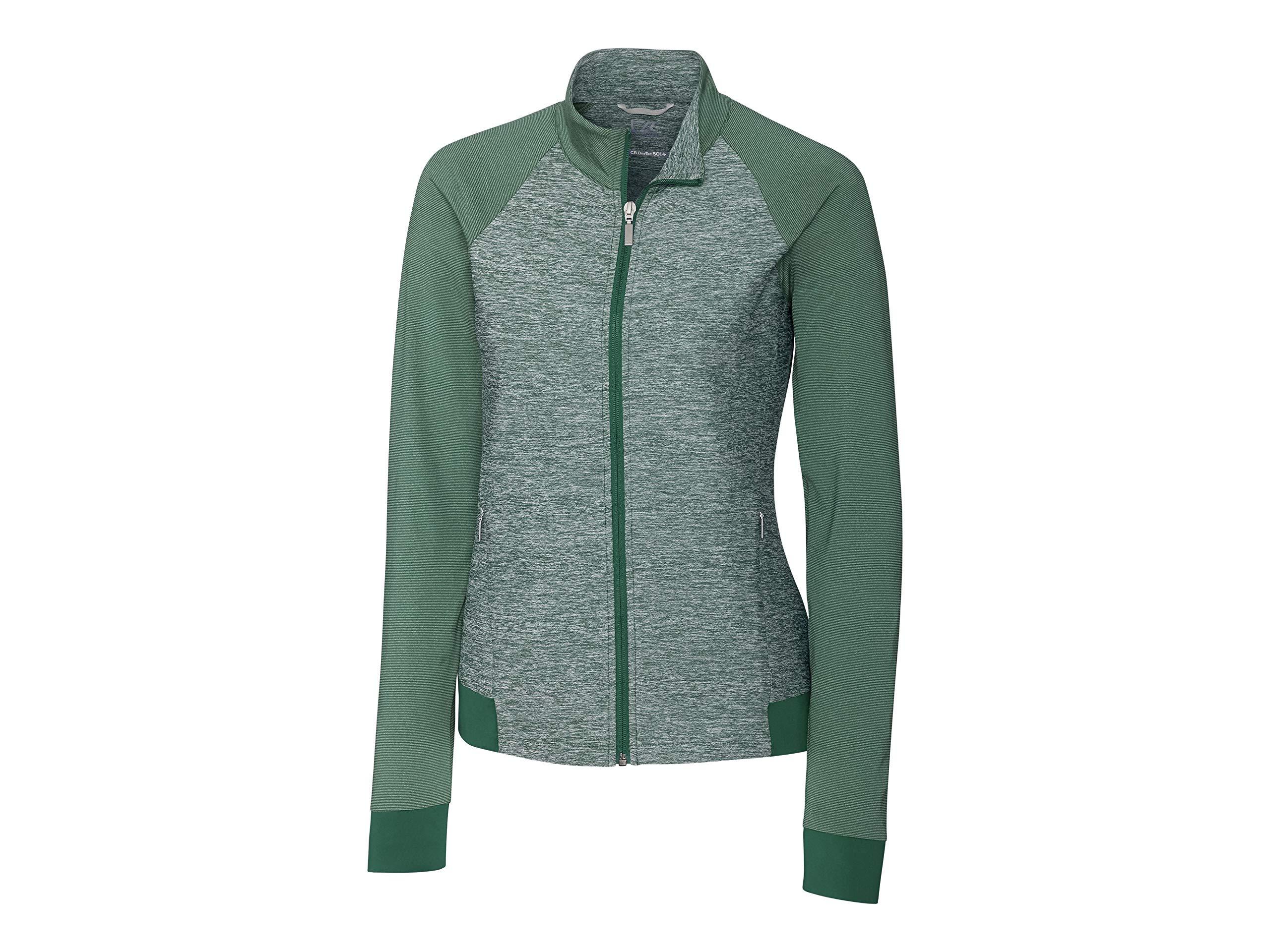 Cutter & Buck LCK08688 Women's L/S Lena Full Zip Jacket, Hunter - XS