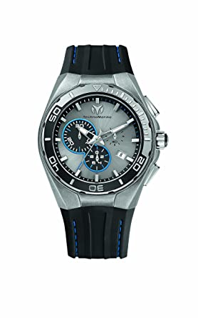 Amazon.com  TechnoMarine Men s 112007 Cruise Steel Evolution ... fa83655ae02