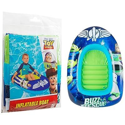 Sambro International Toy Story Barco Inflable para Nadar al Aire Libre, con Madera, Buzz Jessie: Juguetes y juegos