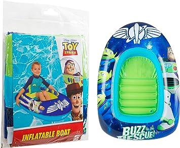 Sambro- Outdoor Swimming Buzz Lightyear diseño Inflable de la Nave Espacial niños Piscina Dingy/Bote/Tumbona, Color con Woody, Jessie (Disney Toy Story 4