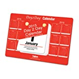 2017 Day To Day Desk Top Stand Up Tear Off Block Calendar Quotes & Facts