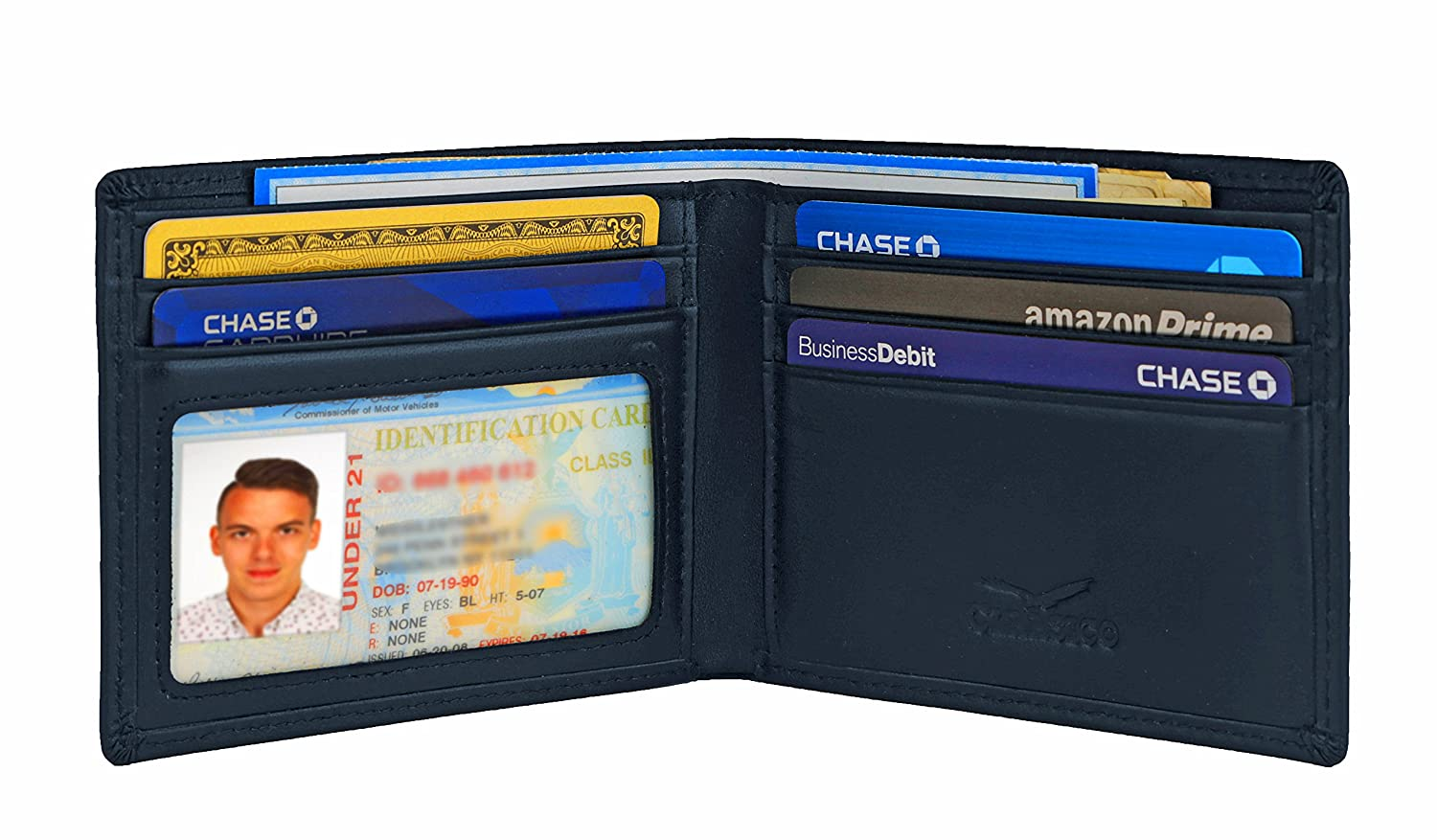 Slim Bifold RFID Bloking Wallet For Men Genuine Leather Packed In Stylish Gift Box 10457709