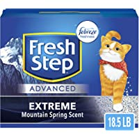 Fresh Step Advanced Extreme Clumping Cat Litter with Odor Control - Mountain Spring Scent, 18.5 LB