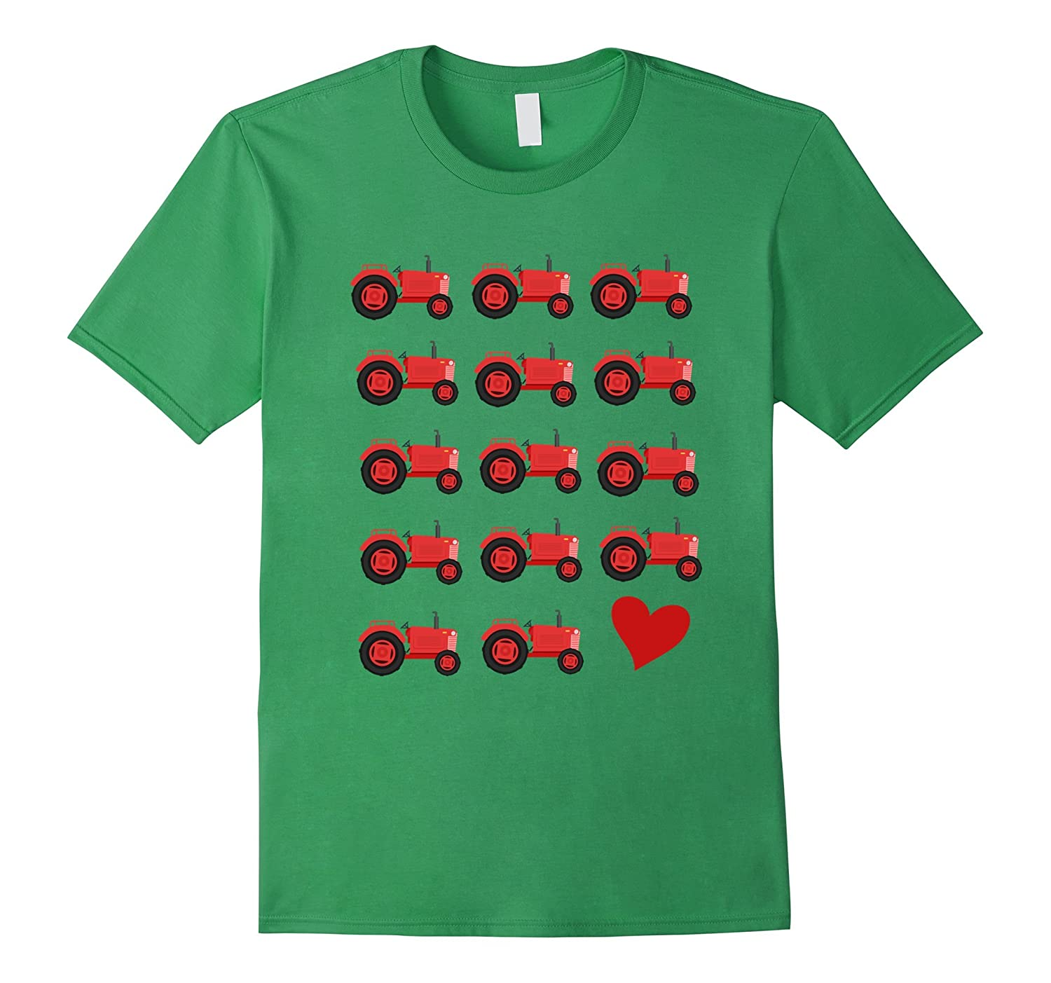 f7665d372 Boys' I Love Red Tractors T-Shirt For Toddlers Kids Farmers-gm ...
