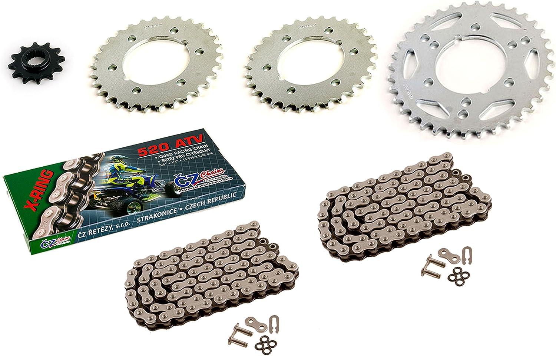 120L 2000 2001 Polaris Sportsman 500 6X6 CZ X Ring Chain /& Sprockets 84L