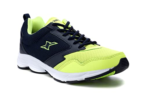 ea8bd5788e97 Sparx Men s Navy Blue and Fluorescent Green Running Shoes - 6 UK India (40
