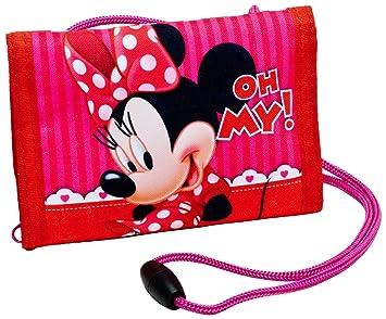 Mickey & Minnie Mouse Dinero Bolsa Minnie Oh My. Monedero Cartera Piel Disney