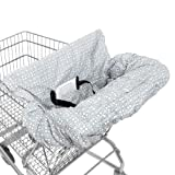 Amazon Price History for:WATERPROOF 2-in-1 Baby Shopping Cart Cover & High Chair Covers with Safety Harness for Babies & Toddler (Unisex Grey)