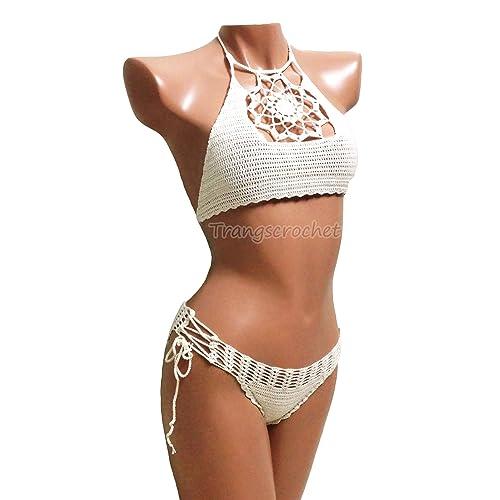 d81c0ec6c2 Amazon.com: Crochet bikini handmade - 20 colors, Trangscrochet: Handmade
