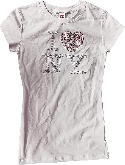I love NY New York Ladies Fit New Tshirt heart