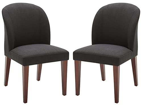 Rivet Contemporary Dining Chair, 35 H, Pepper, Set of 2