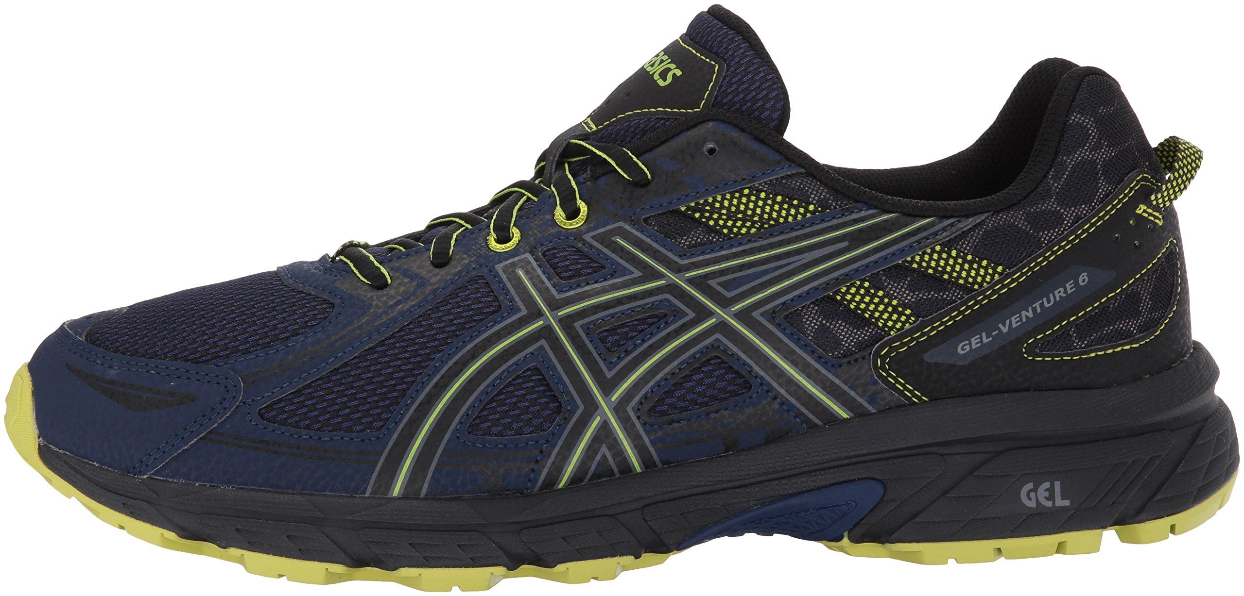 ASICS Mens Gel-Venture 6 Running Shoe, Indigo Blue/Black/Energy Green, 7 Medium US by ASICS (Image #5)