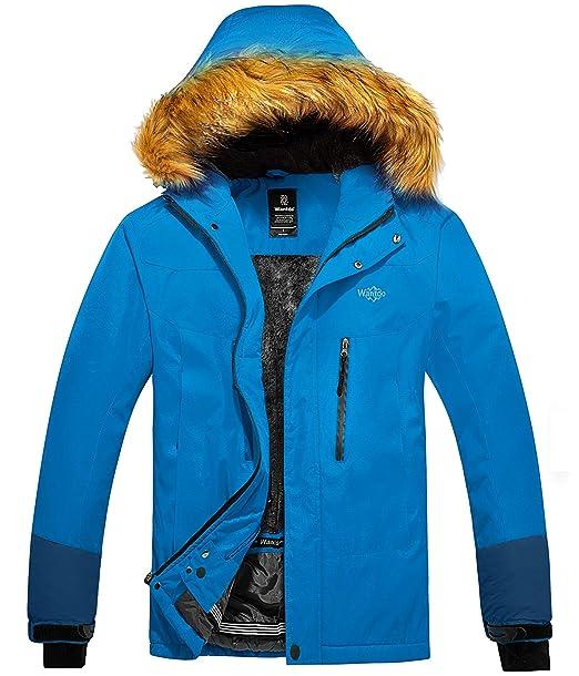 Amazon.com: Wantdo - Chaqueta de esquí con capucha para ...