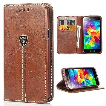 iDoer Galaxy S5 Funda con tapa libro piel y TPU cartera cover Funda de cuero carcasa bumper protectores S5 estuches soporte flip Case para Samsung ...