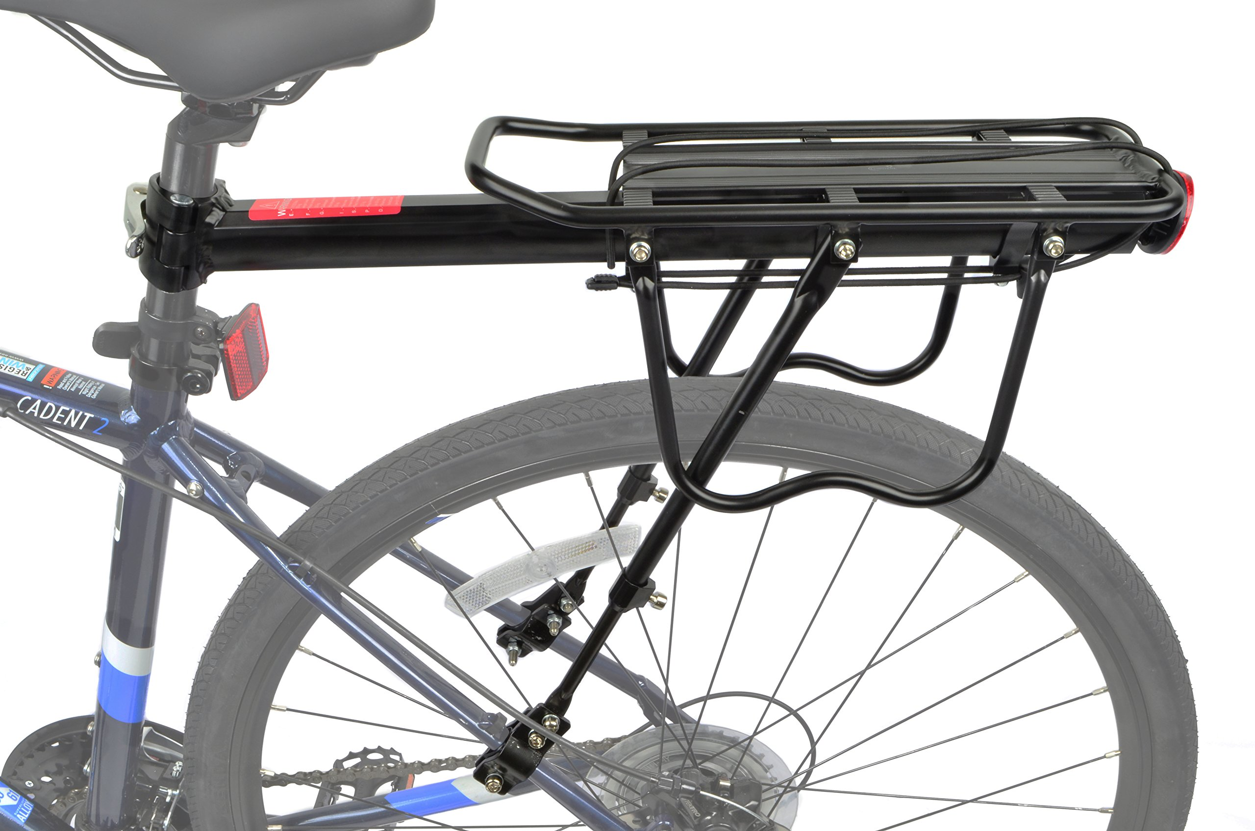 Lumintrail Bicycle Commuter Carrier Rear Seatpost Frame Mounted Bike Cargo Rack for Heavier Top and Side Loads