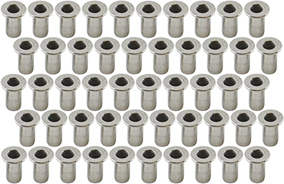 M3 3mm Alu Nut Serts Riveting Nuts Rivet Threaded Inserts Blindnut Rivnut 100pc