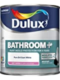 Dulux Bathroom Plus Soft Sheen Paint, 1 L - Pure Brilliant White