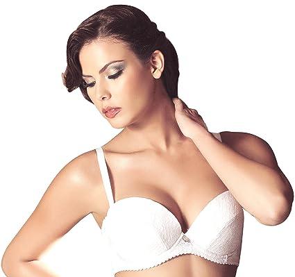 6036caae34f09 Laura White Strapless Classic Bra Sexy Paula  SL101056 (40B) - White ...