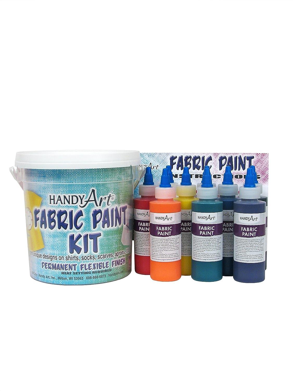 Handy Art 9 color - 4 ounce Fabric Paint Kit Rock Paint Distributing Corp. 885-060