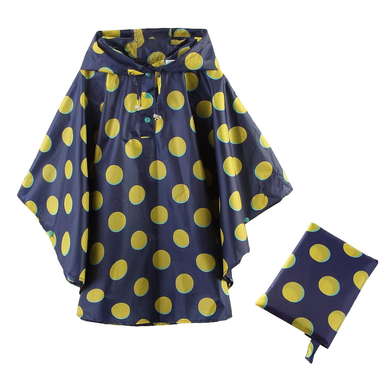 mama stadt Mantella Antipioggia per Bambini,Unisex Stampata Traspirante Poncho Impermeabile 80-160CM