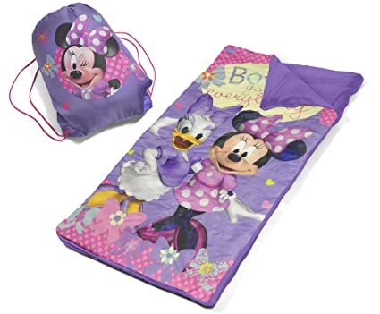 519d4093f3b Image Unavailable. Image not available for. Color  Disney Minnie Mouse  Slumber Bag Set